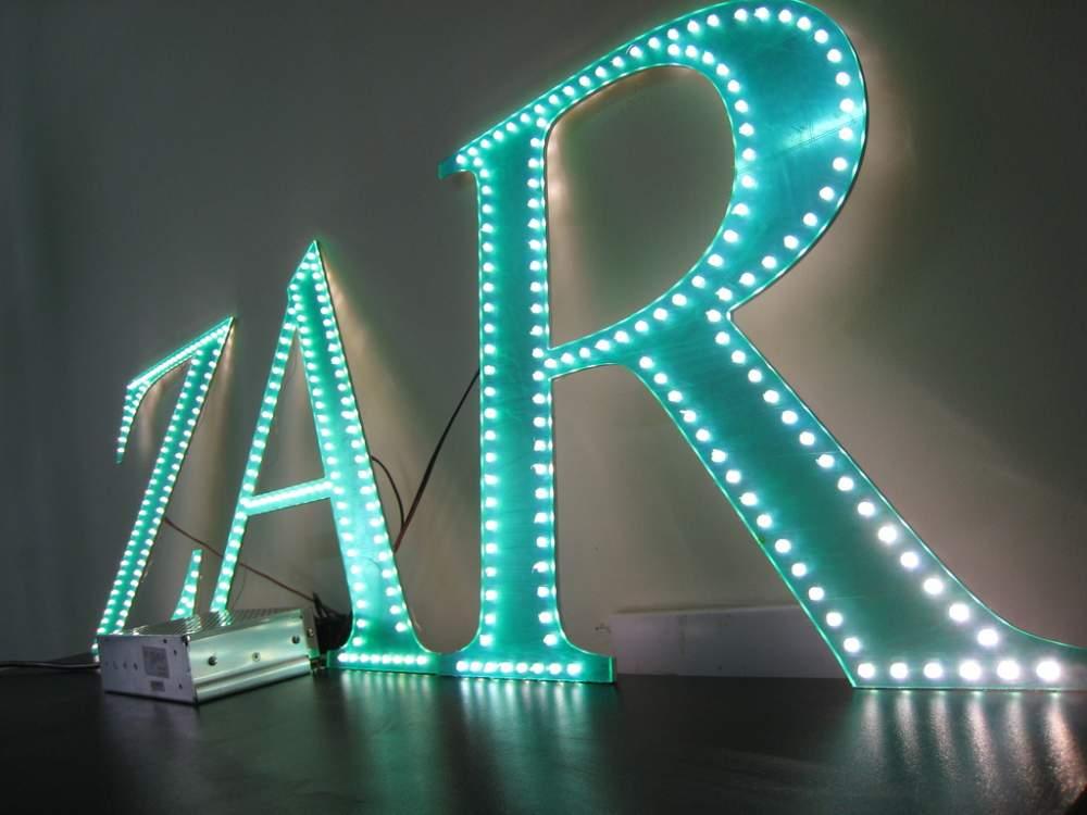 Буквы из светодиодной ленты