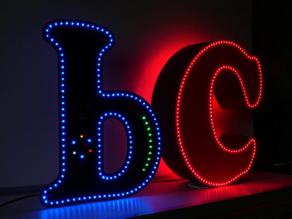 Объемные буквы светодиодные OVAMO.RU